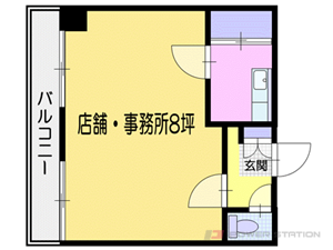小樽市稲穂5丁目0賃貸マンション間取図面