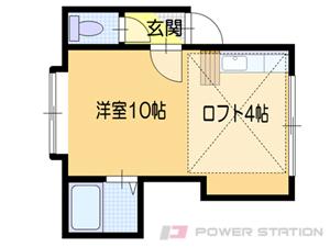 小樽1Kアパート図面