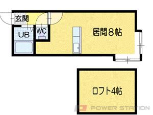 小樽市長橋1丁目1賃貸アパート間取図面