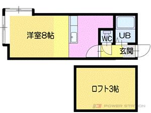 小樽市稲穂3丁目1賃貸アパート間取図面