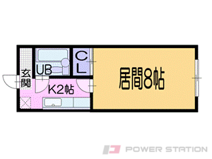 小樽1Kマンション図面