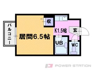 小樽市富岡2丁目0賃貸マンション間取図面