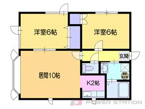 小樽市富岡2丁目0賃貸アパート間取図面