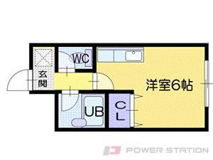 小樽市稲穂1丁目0賃貸マンション間取図面