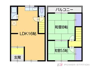 小樽市幸3丁目0テラスハウス間取図面