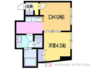 小樽市色内1丁目0賃貸アパート間取図面