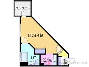 小樽市東雲町0賃貸マンション間取図面