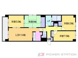 小樽市山田町0分譲リースマンション間取図面