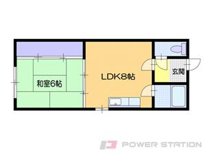 小樽1DKアパート図面