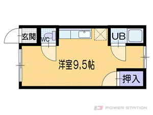 小樽市緑3丁目0賃貸アパート間取図面