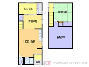 小樽市稲穂5丁目0一戸建貸家間取図面
