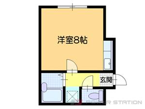 小樽市若竹町0賃貸アパート間取図面