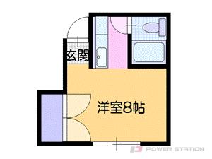 小樽市入船2丁目0賃貸アパート間取図面