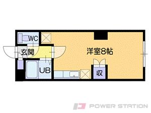 小樽市富岡1丁目0賃貸マンション間取図面
