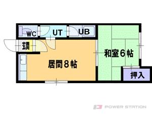 小樽市桜3丁目1賃貸アパート間取図面