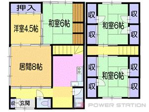 小樽市入船5丁目1一戸建貸家間取図面