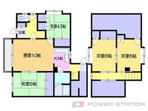 小樽市桜2丁目1一戸建貸家間取図面