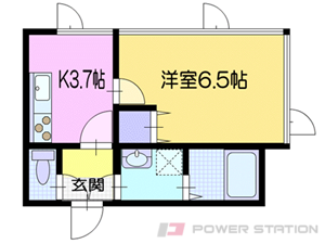 朝里1Kマンション図面
