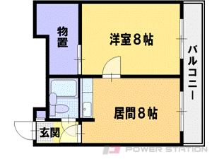 小樽市新光1丁目0賃貸マンション間取図面