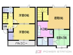 小樽市桜5丁目1賃貸アパート間取図面
