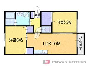 小樽市望洋台2丁目0賃貸アパート間取図面