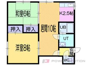 小樽市新光4丁目1賃貸アパート間取図面