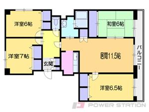 南小樽4LDK分譲リースマンション図面