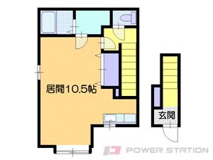 小樽市緑1丁目0賃貸アパート間取図面