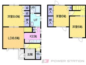 小樽市緑2丁目1一戸建貸家間取図面