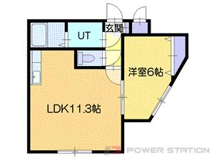 小樽市新富町1賃貸マンション間取図面