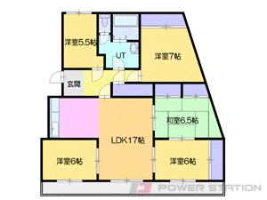 南小樽5LDK分譲リースマンション図面
