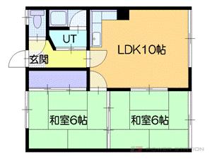 小樽市桜1丁目0賃貸アパート間取図面
