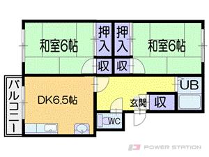 小樽市桜1丁目1賃貸マンション間取図面