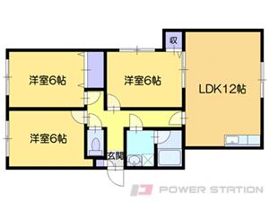 小樽市相生町0賃貸アパート間取図面