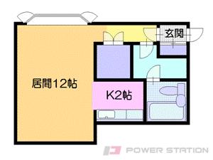 小樽築港1Kアパート図面