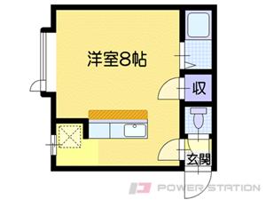 小樽市相生町1賃貸アパート間取図面