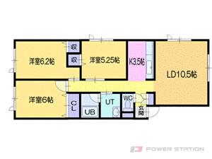 小樽市新光1丁目1賃貸アパート間取図面