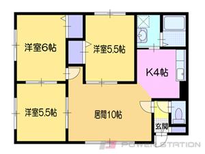 小樽市桜2丁目0賃貸マンション間取図面
