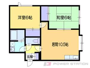 小樽市桜4丁目0賃貸アパート間取図面