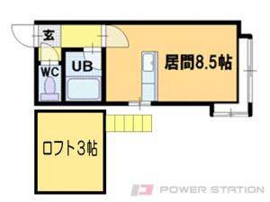 小樽市緑2丁目0賃貸アパート間取図面