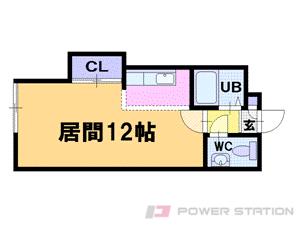 銭函1Rマンション図面