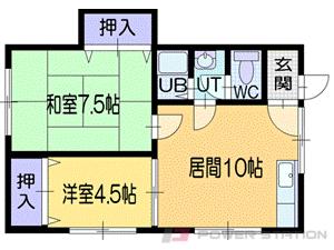 小樽2DKアパート図面