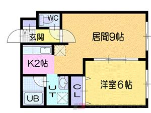 小樽市銭函2丁目1賃貸マンション間取図面