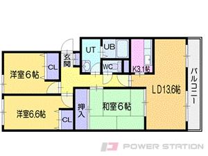 小樽市朝里川温泉1丁目0分譲リースマンション間取図面