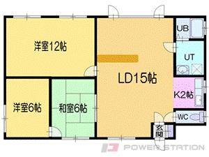小樽市オタモイ1丁目0テラスハウス間取図面
