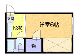 小樽市桂岡町1賃貸アパート間取図面