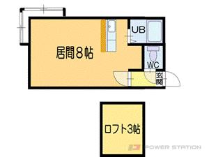 小樽市桜2丁目1賃貸アパート間取図面