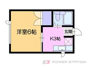 小樽市桂岡町0賃貸アパート間取図面