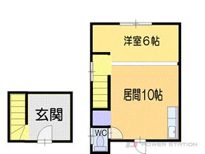 小樽市花園1丁目0一戸建貸家間取図面