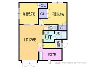小樽市稲穂5丁目0賃貸アパート間取図面